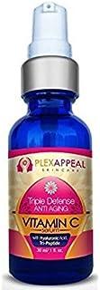 PlexAppeal Organic Wrinkle Reducing Vitamin C Serum - 30 ml (1 fl. oz.)