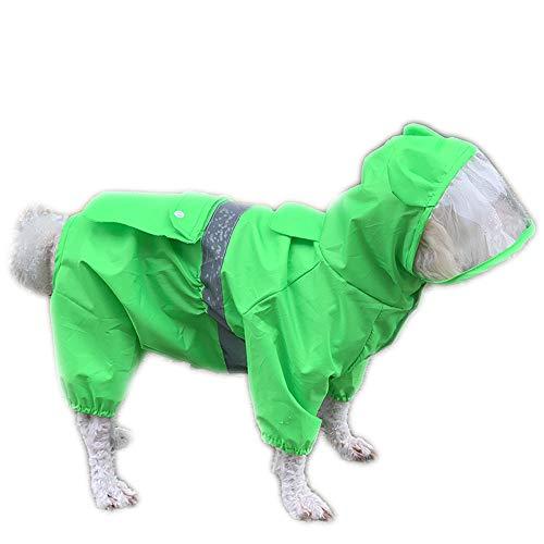 NashaFeiLi Haustier-Regenmantel, wasserdichter Poncho, mit Kapuze, transparenter Hut, Regenjacke für Welpen, kleine mittelgroße Hunde, Größe M