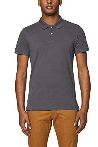 ESPRIT Herren 999EE2K803 Poloshirt, Grau (Dark Grey 020), X-Large (Herstellergröße: XL)