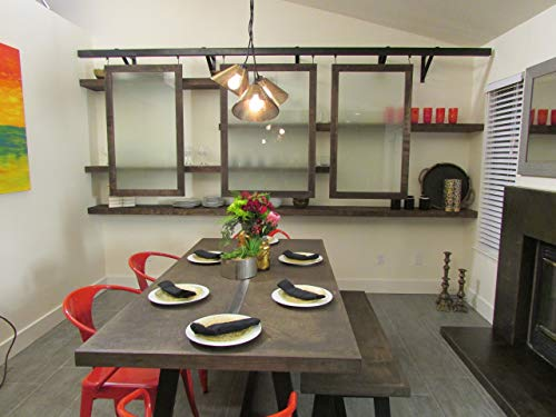 Black Kitchen, Tan Dining Room