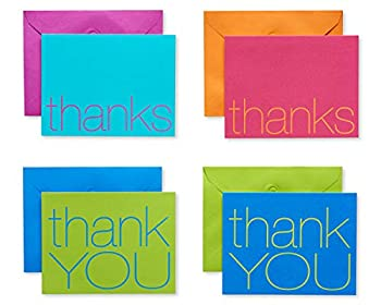 American Greetings Thank You Cards with Envelopes Bold Multicolored  50-Count