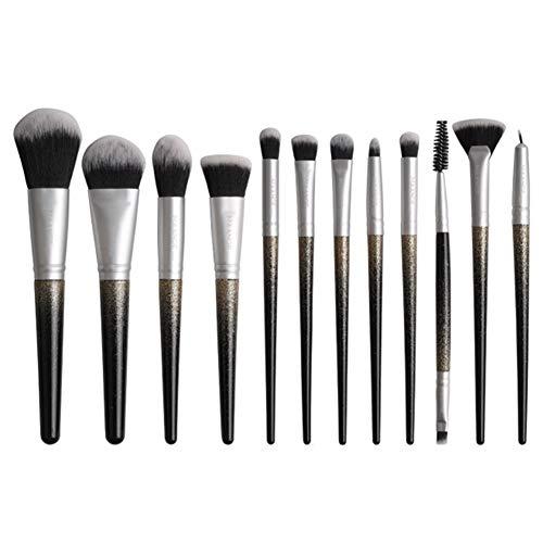 Pinceau De Maquillage 12 Pcs Ensemble Débutant Maquilleur Professionnel Visage Modification Outil En Nylon Laine Pinceau De Maquillage