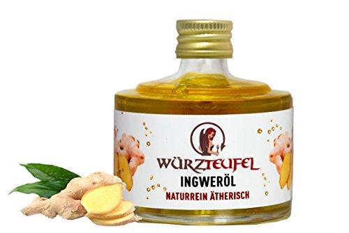 Ingwer - Öl Ingweröl aus Sri - Lanka. naturrein, ätherisch. Spitzenqualität. Glasflasche 40 ml.