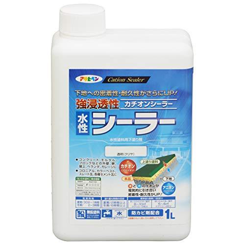 アサヒペン 強浸透性水性シーラー 透明(クリヤ) 1L