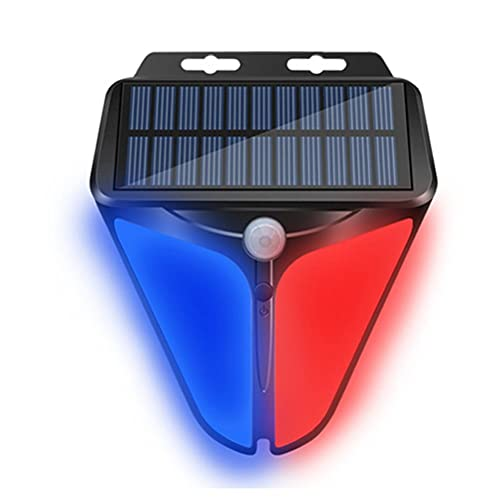 Tumnea Lámpara Solar Luz de Alarma Solar Luz de Advertencia Solar Lámparas solares Impermeables Lámpara de Seguridad al Aire Libre para Estanque de Pesca de Sauce de huerto