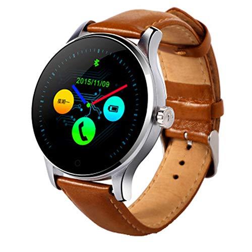 LXZ K88H Multifunktions-Smartwatch 1,22 Zoll IPS-Rundsieb Unterstützt Herzfrequenzmonitor Bluetooth Fitness Wasserdichten Multi-Sport-Smartwatch,B