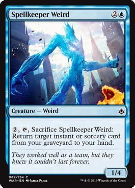 Magic: The Gathering - Spellkeeper Weird - Foil - War of The Spark