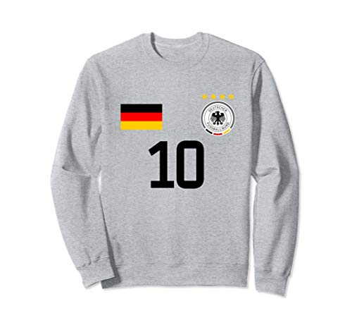 Germany Football Jersey Style - Print on Back Soccer Germany Sweatshirt