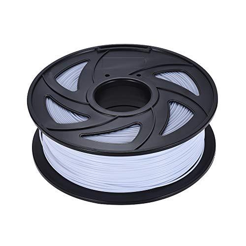 without KF-3D, PLA Filament 3D Printer Filament 1kg/Roll 2.2lb 1.75mm for MakerBot Anet 3D Printer Pen 17 Colors Optional (Color : White)