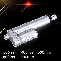 電気設備 金属歯車の電気線形アクチュエータ12Vリニアモーター移動距離のストローク300mm 400mm 500mm 600mm 700mm 30W 2.5A最大 (Speed(RPM) : 180N 50mm per second, Voltage(V) : 400mm stroke)
