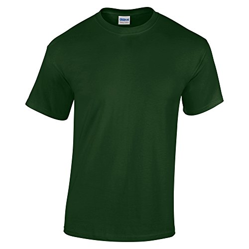 Gildan Heavy Cotton 5.3 Ounce T-Shirt - Large - Forest Green
