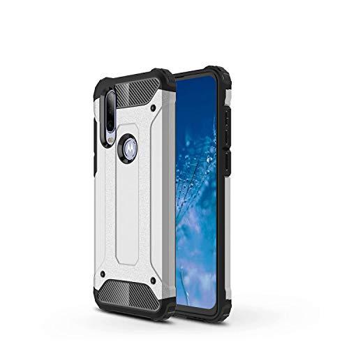 TenYll Cover per Huawei Y5p, Protezione Durevole, Custodia Robusto TPU + PC Ibrido Doppio Strato Protective Case, Case Custodia per Huawei Y5p (Argento)