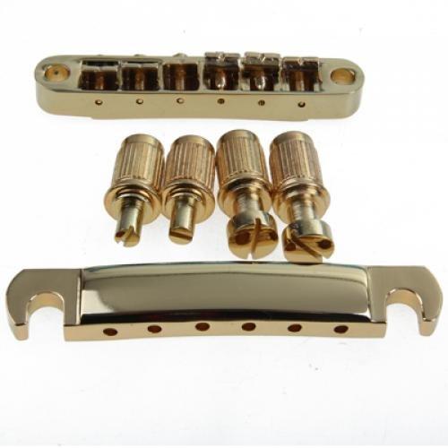 Hellery Gold Abr 1 Tune O Matic Puente Y Cordal de Parada para Les Paul Gibson