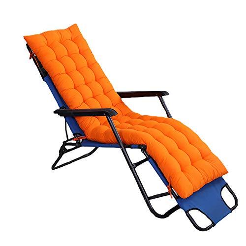 Heyjewels Liegestuhl Auflage Gartenstuhlauflagen, Einfarbig Sitzkissen Dick Polster Anti-Rutsch-Design Relax Liegenauflage für Sonnenliege Schaukelstuhl (Orange)