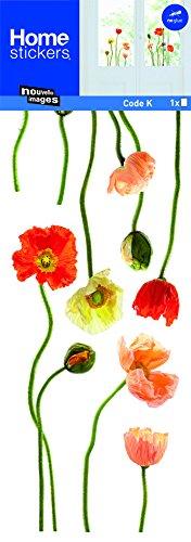 Sticker Fenster Mohnblumen Natur neuen Bildern