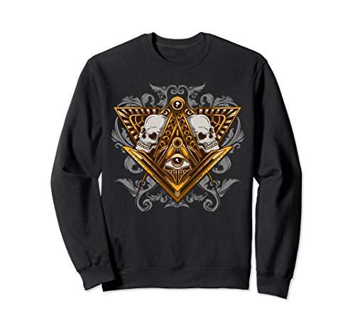 Freimaurer Illuminati Augenschädel Freimaurer Sweatshirt