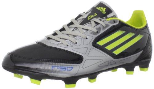 adidas Herren F10 TRX Fg-m, Black/Lab Lime/Metallic Silver, 45 EU