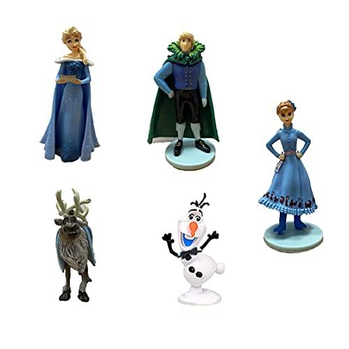 Figuras Disney Princesas, Frozen Cake Topper, Mini Juego De Figuras, Frozen Decoración Tarta De Cumpleaños, Para Fiestas De Cumpleaños, Baby Shower, Decoración Del Hogar, 5 Piezas