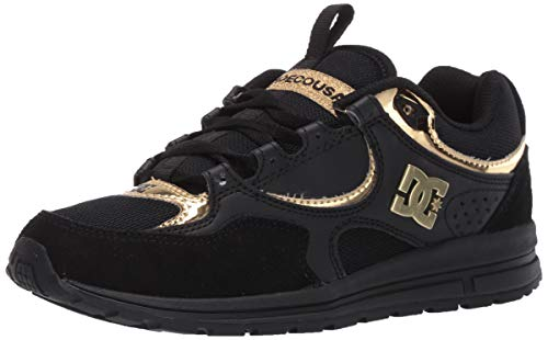 DC Women's Kalis LITE Skate Shoe, Black/Gold, 7.5 B M US