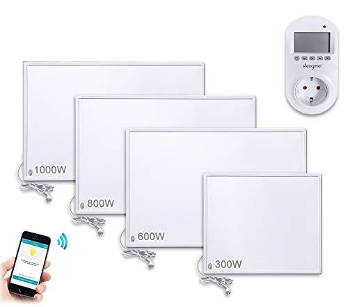 Aufun Thermostat Infrarotheizung 600W WIFI Heizpaneel Infrarot Heizung Elektroheizung mit Überhitzungsschutz für Heizt 8-14m² Raum
