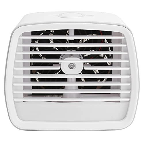 Enfriador de aire personal, pequeño ventilador de escritorio USB personal, 3 velocidades, ventilador de enfriamiento de mesa de escritorio portátil, enfriado por agua con luz nocturna, para la oficina