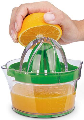 Citrus Juicer: Large + Small Lemon Lime Orange Grapefruit Squeezer Manual Juicer Hand Squeezer, Measuring Cup, Grater, Egg Separator, Corn Shucker, Citrus Reamer - 5 in 1 Set by Cestari Kitchen Tools