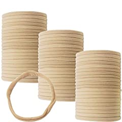 100pcs Nylon soft Headbands,Our headbands are made with the highest quality materials to the highest quality standards you would expect, perfect for budding DIY/craft/makers and hobbyists. Nude/plain color to allow your bows, flowers and decorations ...