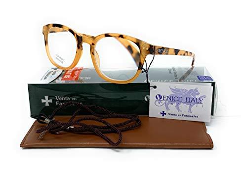Gafas de lectura, presbicia, vista cansada, Mujer Diseño en Colores: Gris, Demi, Rosa. VENICE Johnny - Dioptrías: 1 a 3,5 (Demi, 1,00)