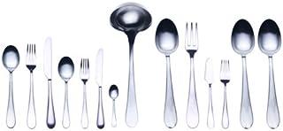 Mepra Natura Ice 113 Pcs Flatware Set – Silver Tableware, Dishwasher Safe Cutlery