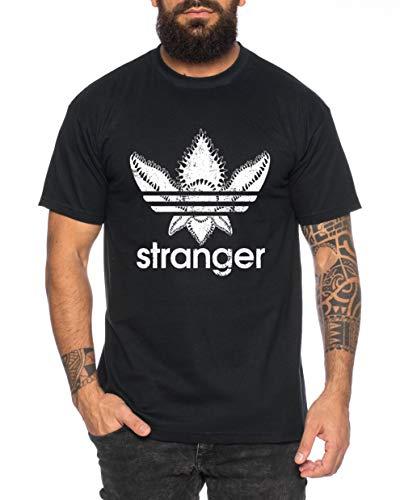Stranger Herren T-Shirt Cooles lustiges Fun Shirt, Farbe:Schwarz, Größe:XXL