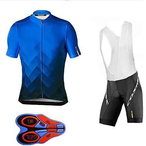 GET Completo da Ciclismo Uomo Abbigliamento da Ciclismo Maglia Manica Corta, Kit Uniforme Pantaloncini Estivi Tuta Mountain Bike (Colore : C, Taglia : XL)