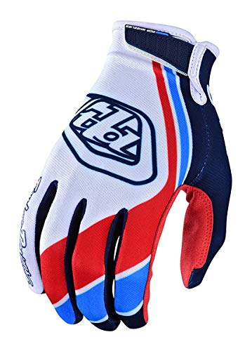 Troy Lee Designs Men's Offroad Motocross Seca Air Glove (Medium, White/Dark Navy)