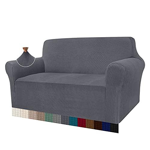 Granbest - Funda de sofá de Alta Elasticidad, diseño Moderno, Jacquard, para el salón, para Perros y Mascotas (2 plazas, Gris)