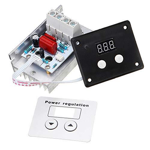 hgbygvuy AC 220V 10000W 80A Control Digital SCR Regulador de Voltaje electrónico Control de Velocidad Termostato Dimmer con medidores Digitales S