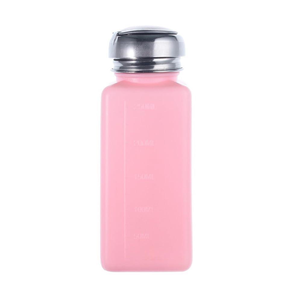 ギャロップ採用する並外れたCUHAWUDBA エンプティーポンプディスペンサー ネイルアート研磨リムーバー 200MLボトル用 (ピンク)