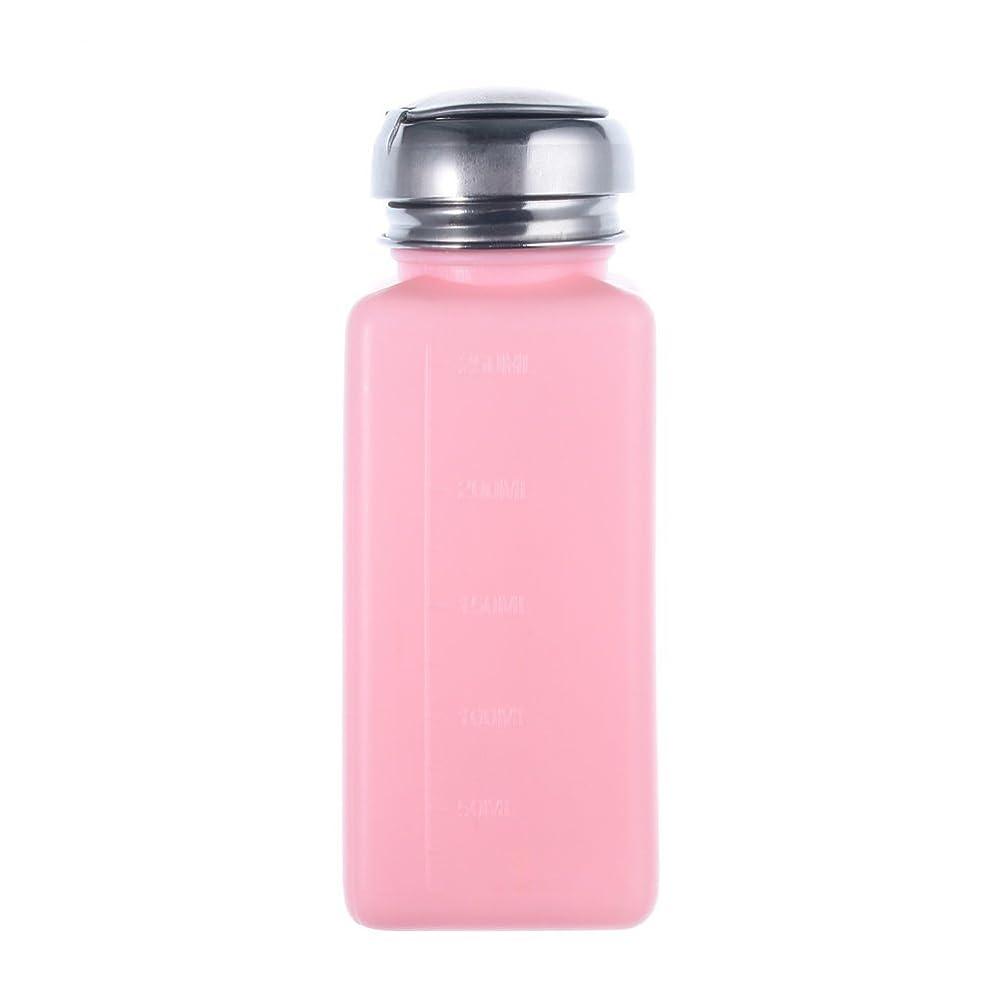 海岸皮肉かんたんCikuso エンプティーポンプディスペンサー ネイルアート研磨リムーバー 200MLボトル用 (ピンク)
