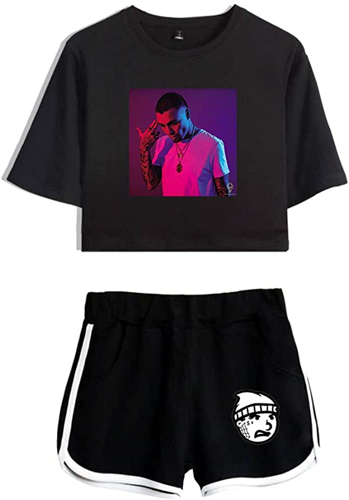 Tydres Gera MX 2 Piece Sets Hip Hop Short Sleeve Suit Womens Girl Set Casual Accessories Fashion Suit (BB-YM00721,M)