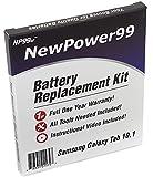 Kit de Remplacement de Batterie pour Samsung Galaxy Tab 10.1 Série (Galaxy Tab 10.1 GT-P7500, GT-P7510, GT-P7511) Tablet avec Vidéo d'Installation, Outils, et Batterie Longue durée.