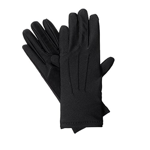isotoner womens Stretch Classics Fleece Lined Winter Gloves, Black, One Size US