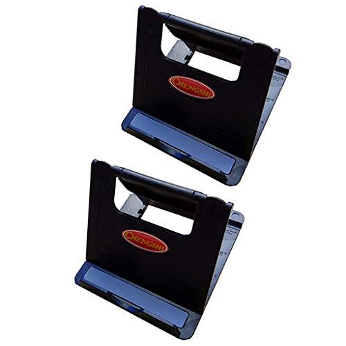 IPOTCH 2 X Soporte para Teléfono Móvil Portátil Soporte de Montaje en Cuna Ajustable Soporte de Base Soporte de para Teléfonos Inteligentes O Tabletas - Negro