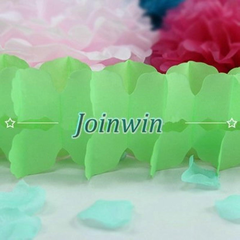 Joinwin 6Pcs Hanging Garland Four-Leaf Clover Garland Tissue Paper Flowers Garland Wedding Decor Party Decor 11.81Feet/3.6M (Green)