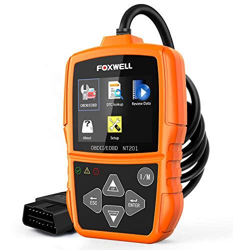 FOXWELL NT201 OBD2 Scanner Check Engine Light Car Code Reader Emission Analyzer Car Diagnostic Scanner for All Cars