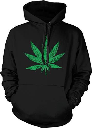 Marijuana Leaf - Pothead Stoner 420 Unisex Hoodie Sweatshirt (Black, X-Large)