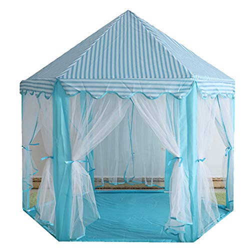 YOUCAI Princess Castle Play Tent Indoor for Kids Gift Playhouse Outdoor Portable Playhouse with Carrying Bag Blue One Size