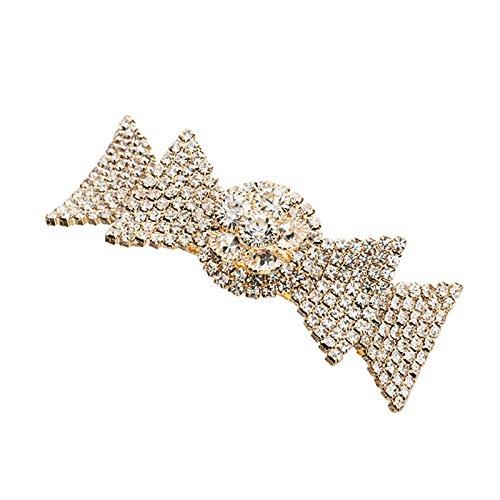 Clip de pelo oro diamante cola de caballo clip pasadores primavera clip pelo clip accesorios flequillo clip lateral clip superior clip