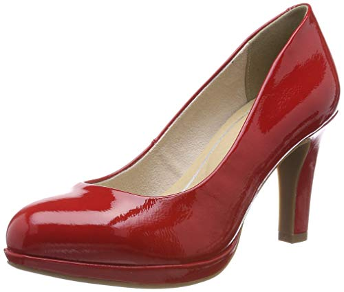MARCO TOZZI Damen 2-2-22421-22 Plateaupumps, Rot (Red Patent 524), 40 EU