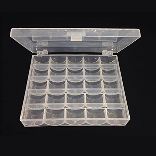 Shipping included ChebeStore 25 Slots Empty Bobbins Machine Spools Sewing Bobb Albuquerque Mall Box
