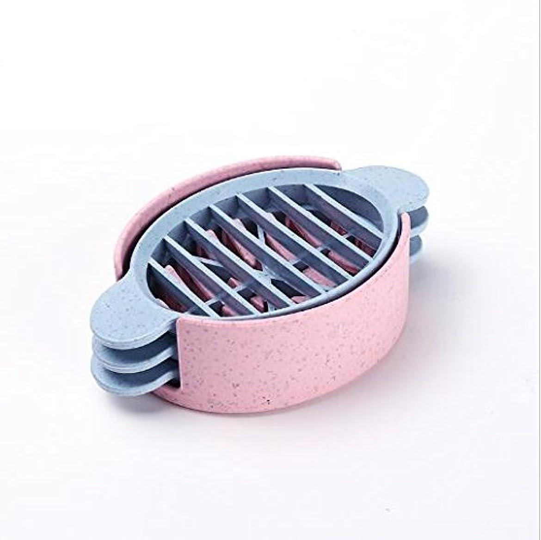 トマト不足ドライバハッピー ゆで卵 カッター 卵切り機 セット 調理ツール3in1 多機能キッチンエッグスライサーカッター金型花エッジツールキッチンアクセサリー 便利小物 3つの切り方 ピンク