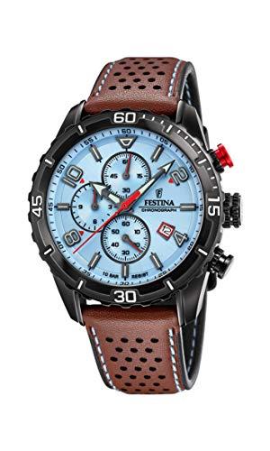 Festina Herren Analog Quarz Uhr mit Leder Armband F20519/1