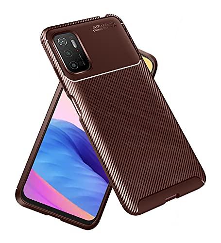 Golden Sand for Xiaomi Poco M3 Pro 5G Back Phone Cover Drop Tested Shock Proof Slim Armor Aramid Carbon Fibre...